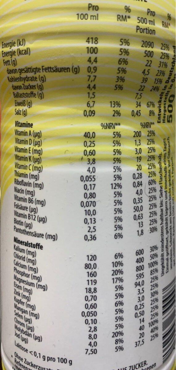 Smooth Vanilla - Informations nutritionnelles - de