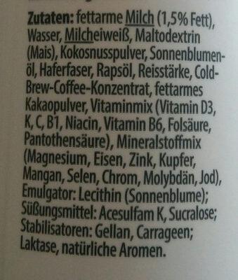 Yfood coffee - Ingredients