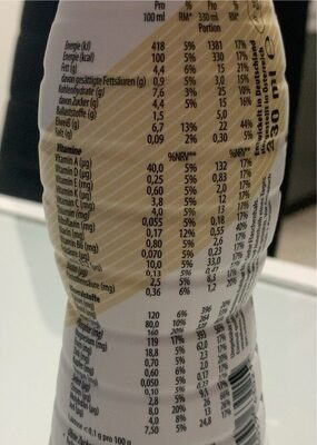 YFood Drink Cold Brew Coffee - Informations nutritionnelles - fr
