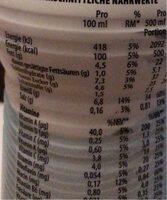 YFood Drink Crazy coconut - Valori nutrizionali - de