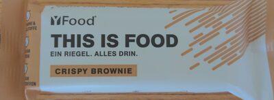 Energie-Proteinriegel mit Brownie-Geschmack, bestreut mit Milchproteincrispies (3,9 %), überzogen mit Milchschokolade Rne Zuckerzusatz. Mit Süßungsmitteln, Vitaminen und Mineralstoffen. - 1