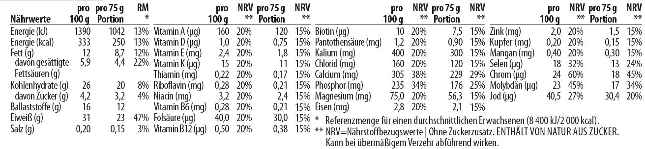 Crispy Brownie Bar - Nutrition facts - de