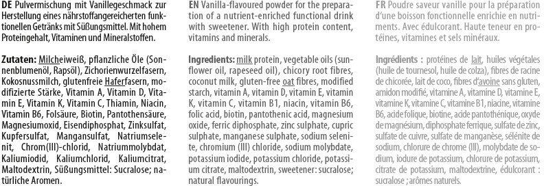 YFood Pulver Smooth Vanilla - Ingredienti - de