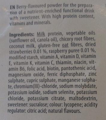 YFood powder Fresh Berry - Ingrédients - en