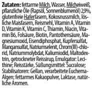 YFood Drink Heavenly Hazelnut - Zutaten - de
