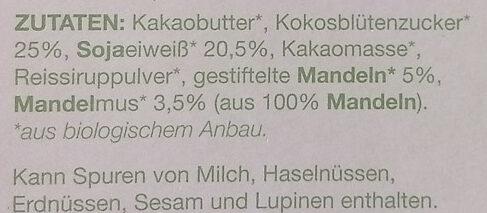 raccoon Mandel - Ingredients