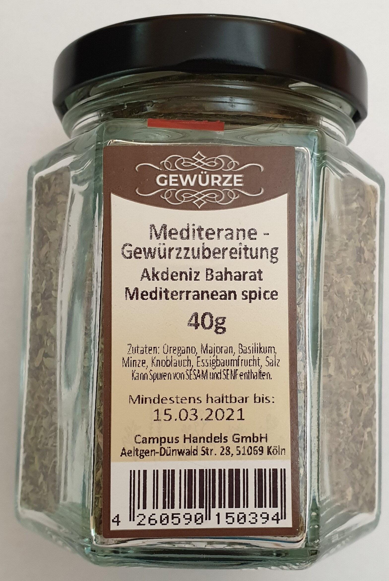 Mediterrane Gewürzzubereitung - Produit