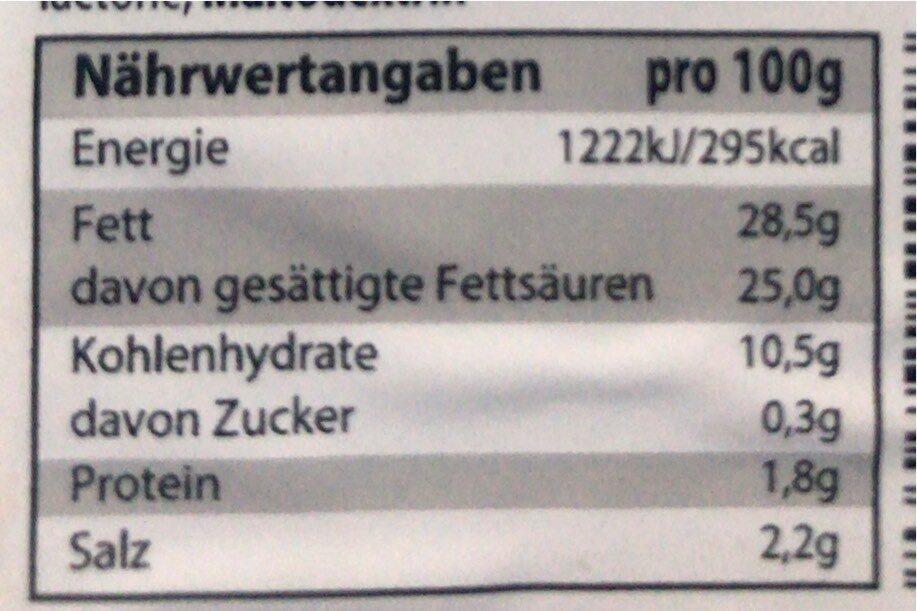 Veta - Informations nutritionnelles - de