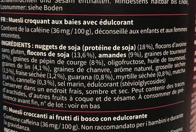 Fit muesli - Informations nutritionnelles
