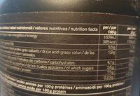 Protéines riz nu3 - Informations nutritionnelles - fr