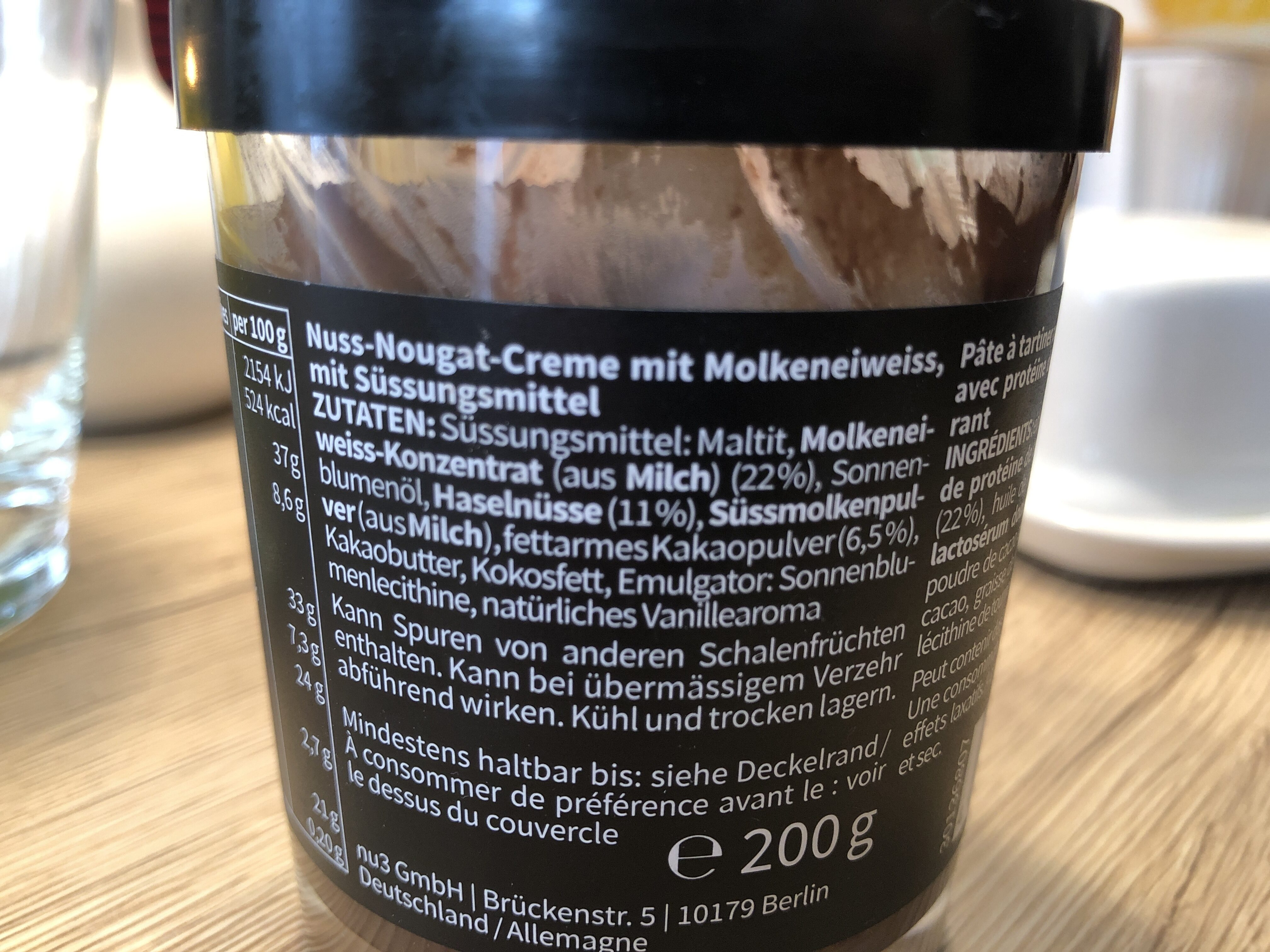 Fit proteine creme - Ingredients - fr
