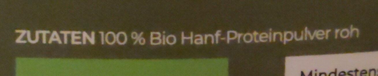 Hanfprotein - Ingredients - de
