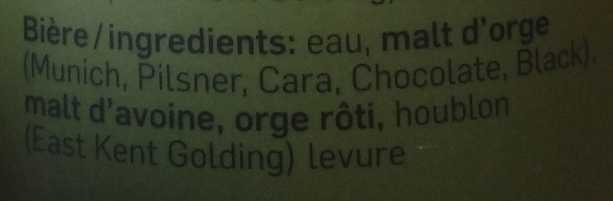 Bob Barley - Ingredients - fr