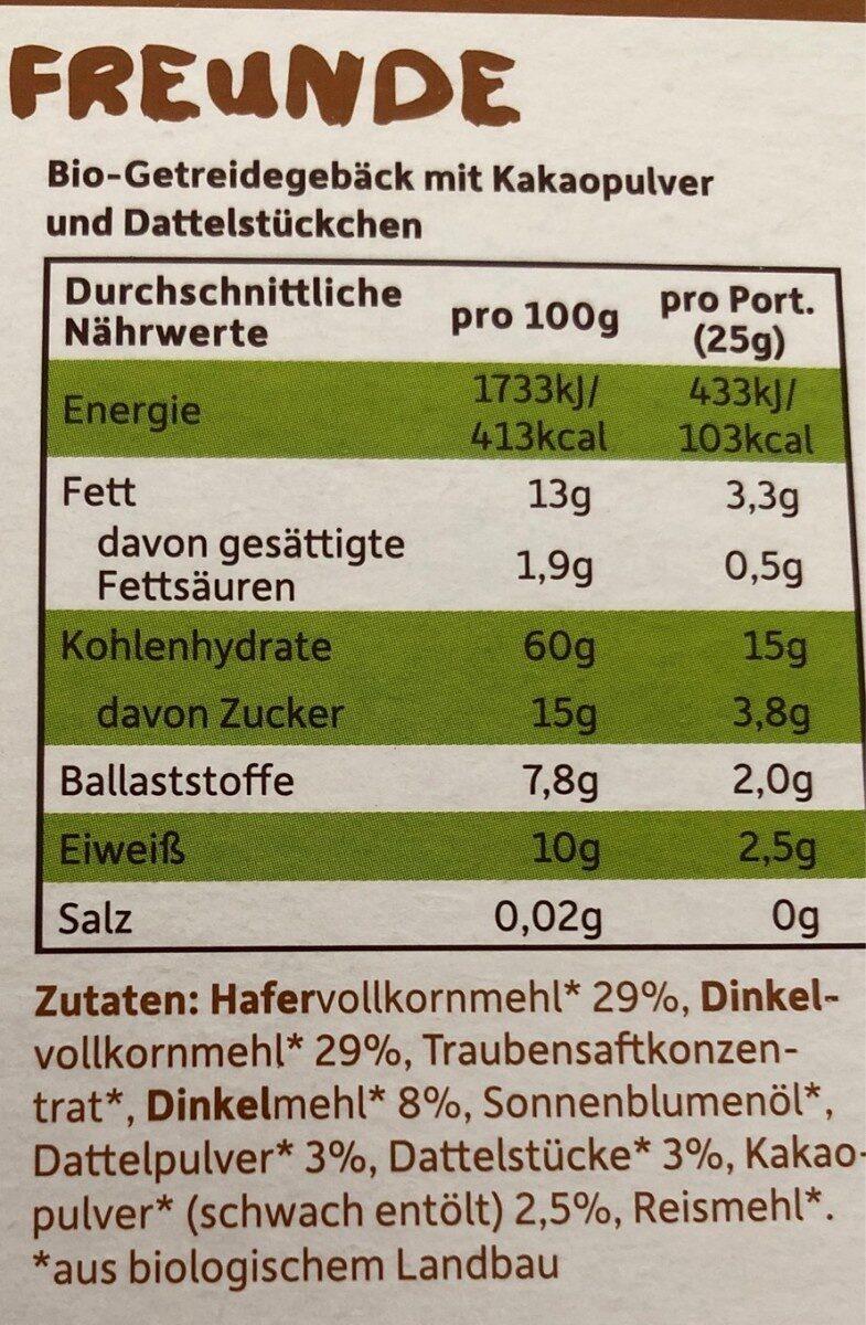 Freche Freunde - Nutrition facts