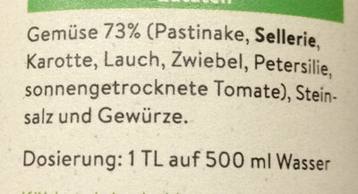 Gemüsebrühe - Ingredients - de