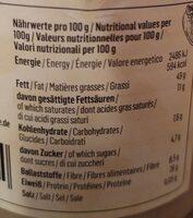 Erdnussmus - Valori nutrizionali - de