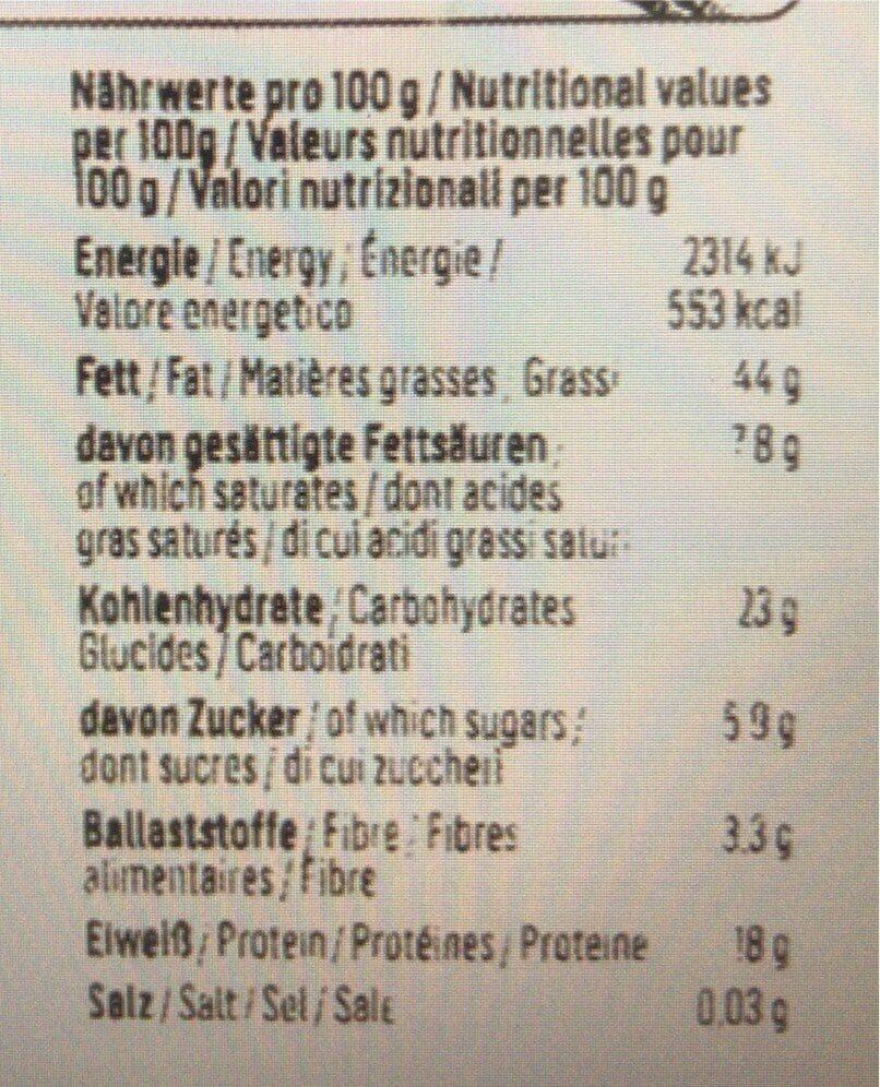 Noix de cajou - Informations nutritionnelles - fr