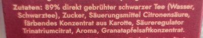 BraTee Granatapfel - Zutaten - de