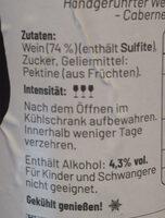Cheers Weinaufstrich - Ingrediënten - de