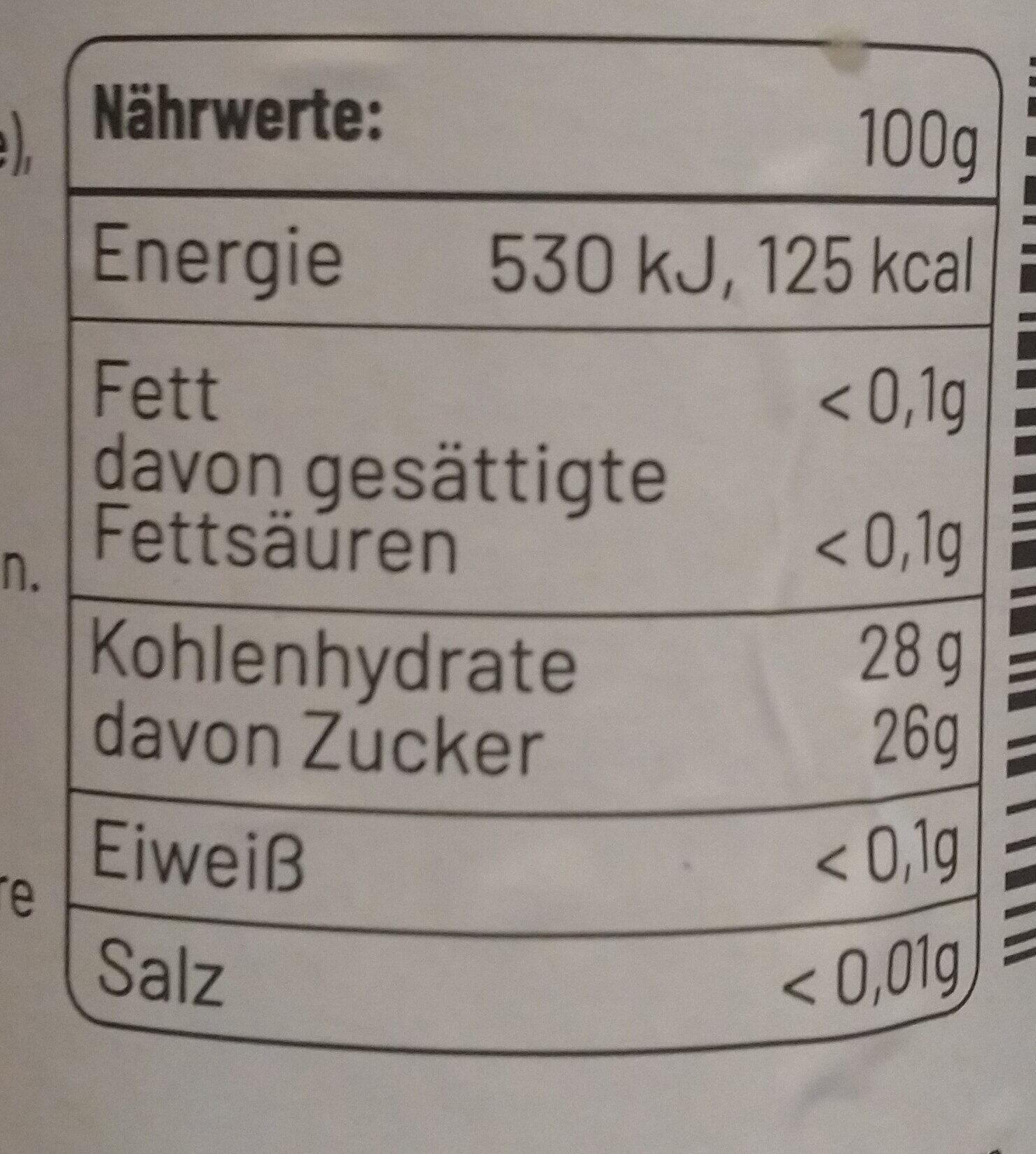 Cheers Weinaufstrich - Voedingswaarden - de