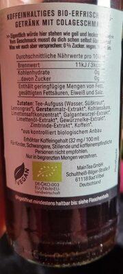 Natur Cola - Nährwertangaben - de