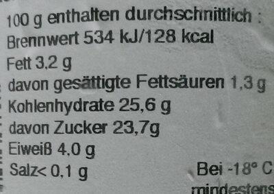 Softeis aus Potsdam Schoko-Kirsch - Informations nutritionnelles - de