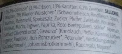 Erbseneintopf - Ingredients - de