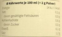 Hühnerbrühe Klassik - Nutrition facts