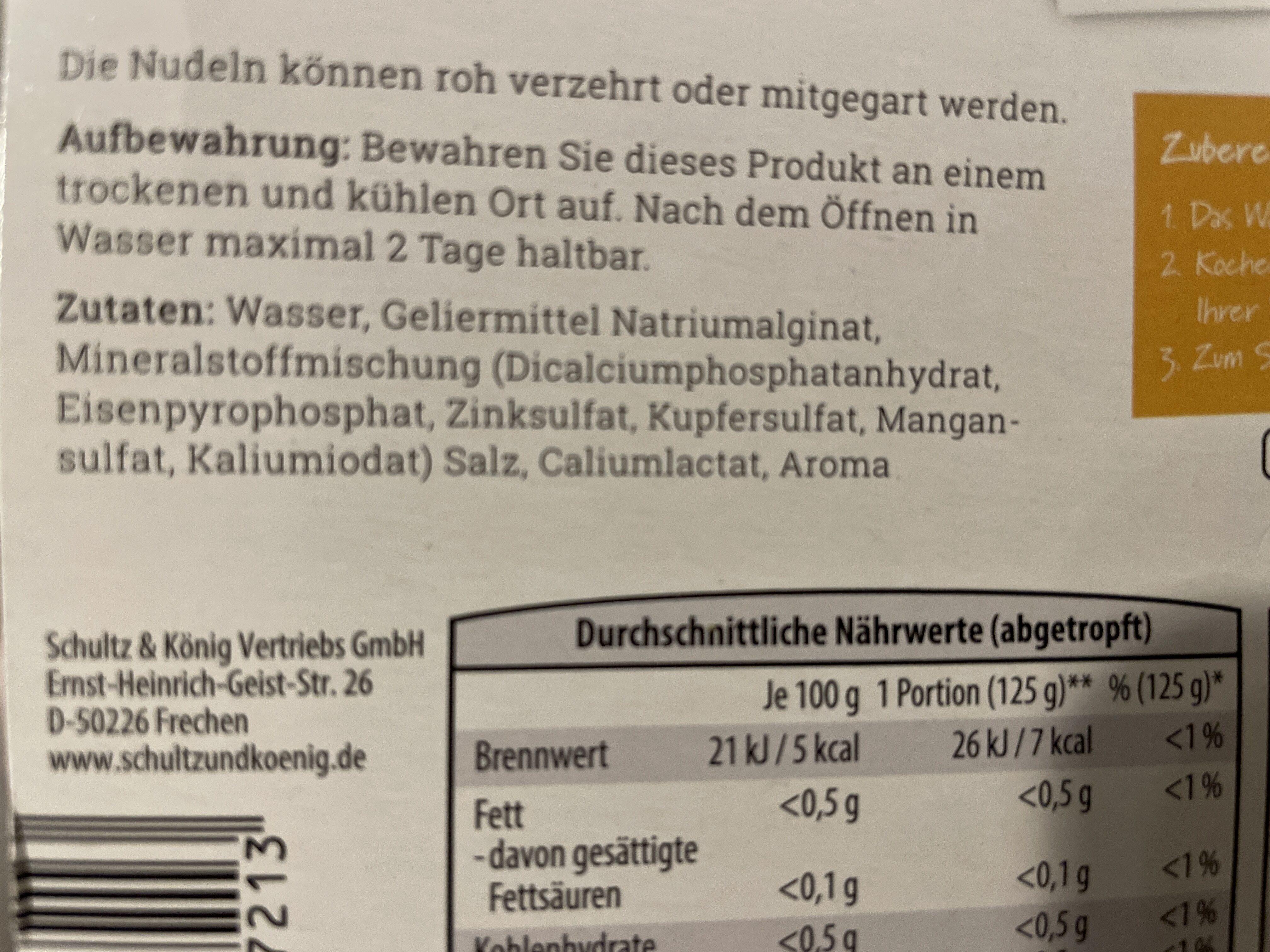 5-Kalorien-Nudeln - Ingredients - en