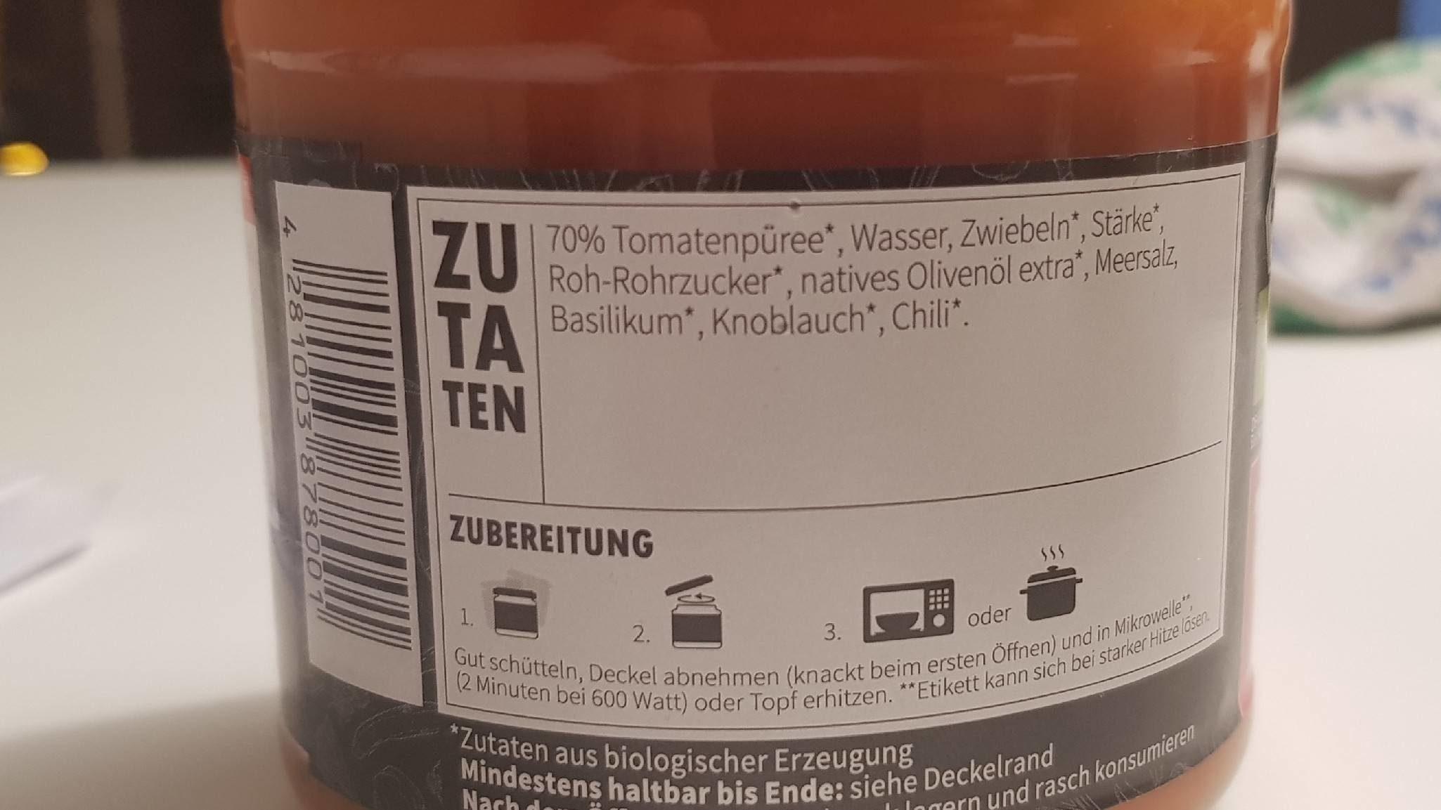 Tomatensuppe - Ingrédients - fr