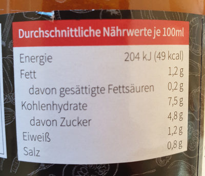 Tomatensuppe - Informations nutritionnelles - de