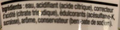 Concentré saveur Limonade Zéro - Ingrédients - fr