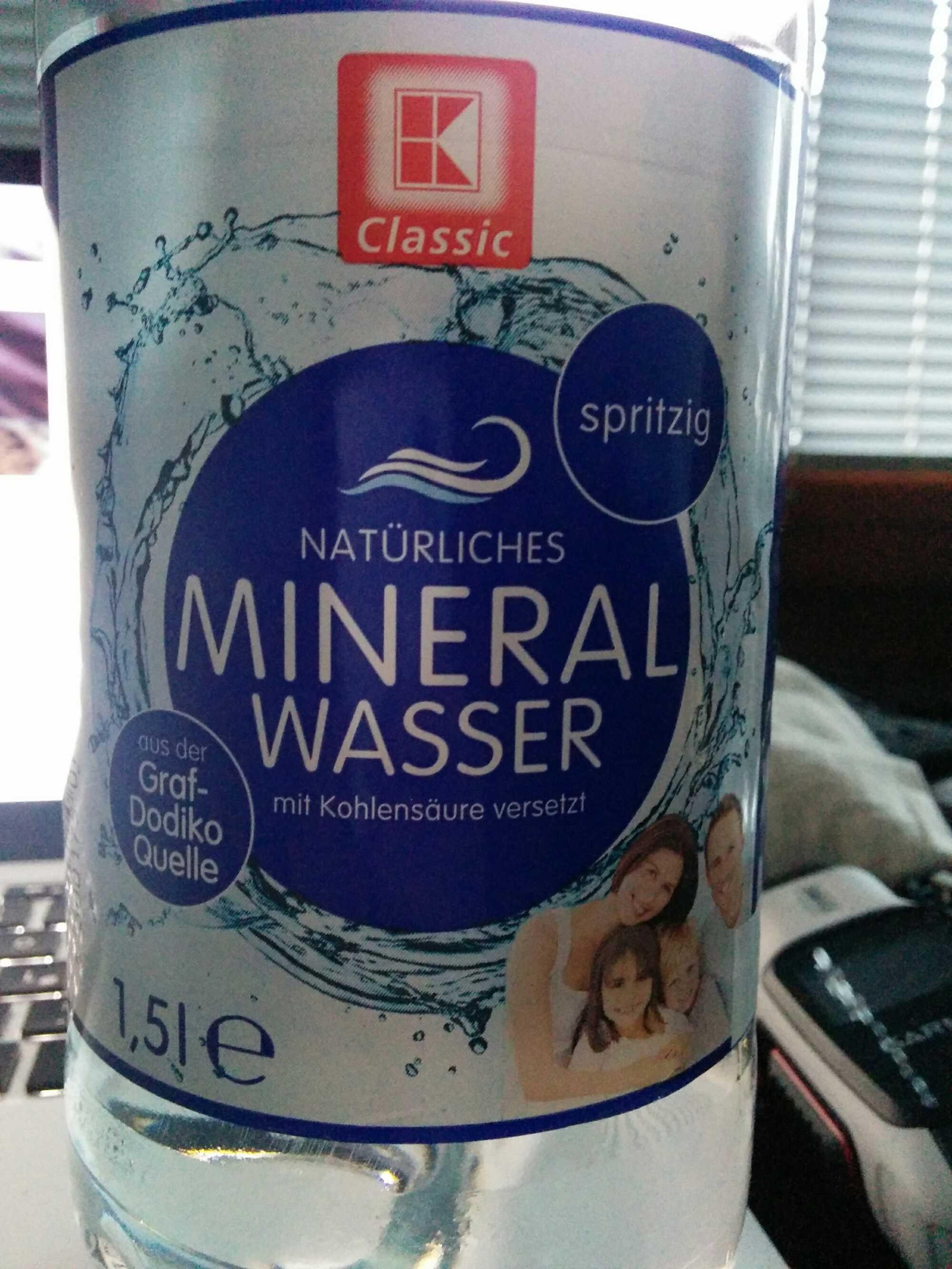 Natürliches Mineralwasser — K-Classic — 1 l