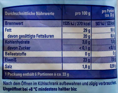 Gouda geraspelt - Voedingswaarden - de