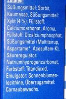 Kaugummi Peppermint-Geschmack - Ingrédients - de