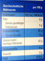 Kaugummi Peppermint-Geschmack - Informations nutritionnelles - de