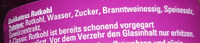 Delikatess Rothkohl - Inhaltsstoffe