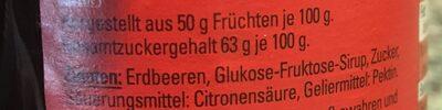 Konfitüre, Erdbeere - Ingrédients - de