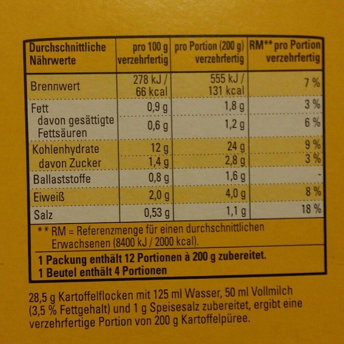 K-classic - 3 X 4 Portionen - Informations nutritionnelles - de