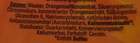 Getränkesirup Orange - Ingredients