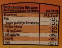 Getränkesirup Orange - Nutrition facts