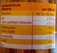 Orangen soft - Voedingswaarden - de