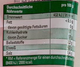 Tomatenmark 2-fach konzentriert - Voedigswaarden