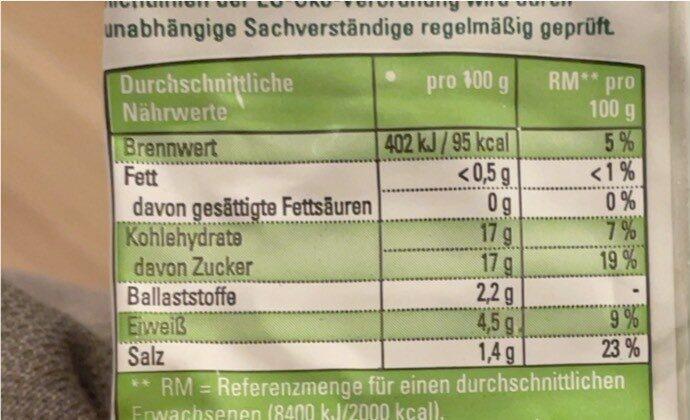 Tomatenmark 2-fach konzentriert - Nährwertangaben - de