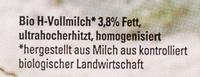 Vollmilch / Lait écrémé 3.8% - Ingredients