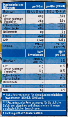H-Vollmilch - Nutrition facts