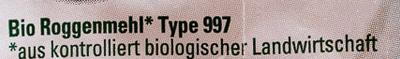 Roggenmehl Type 997 - Ingrédients - de