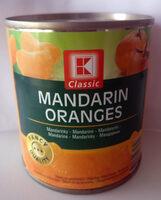 Mandarynki, całe segment bez skórki w lekkim syropie. - Produkt