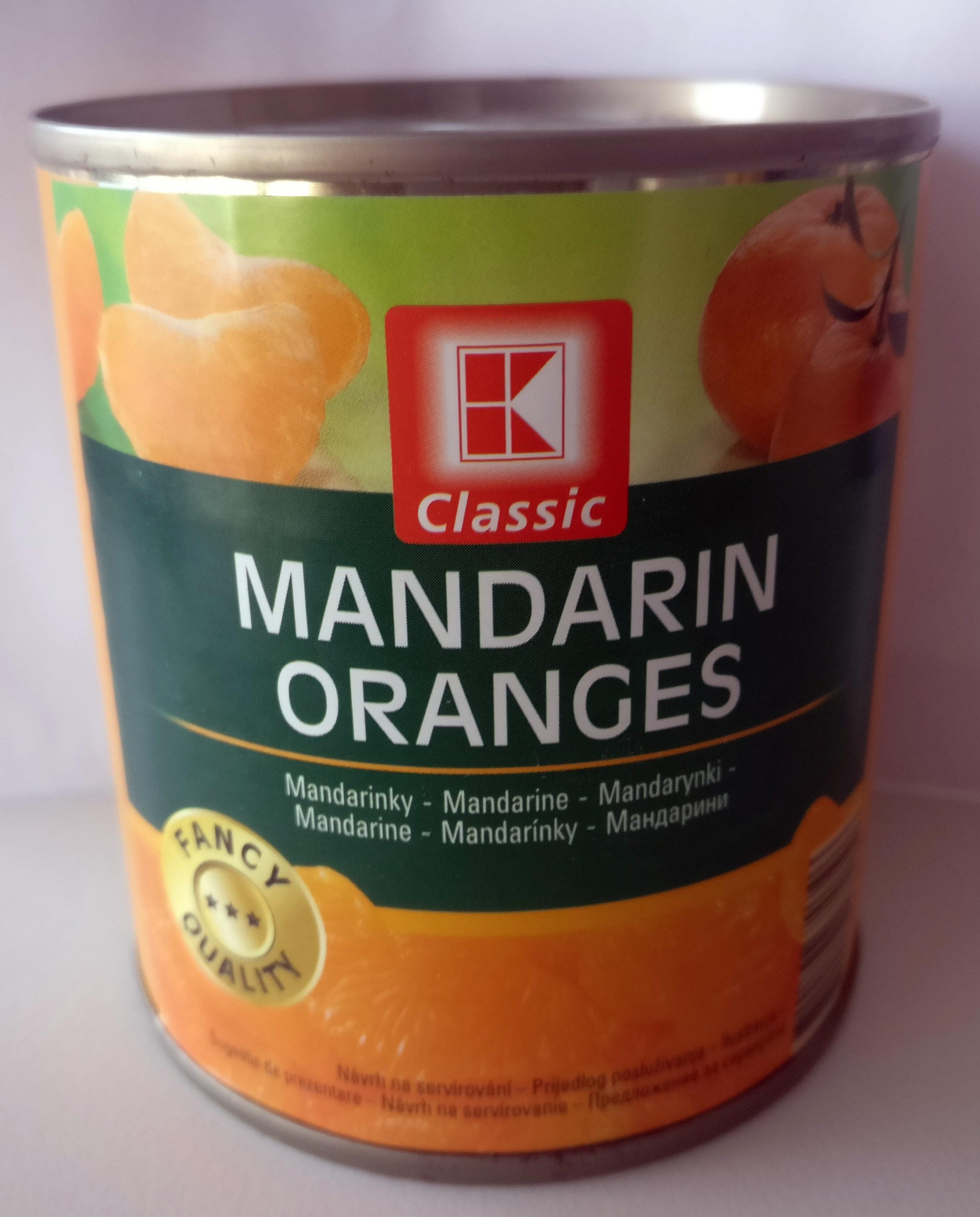 Mandarynki, całe segment bez skórki w lekkim syropie. - Produkt - pl