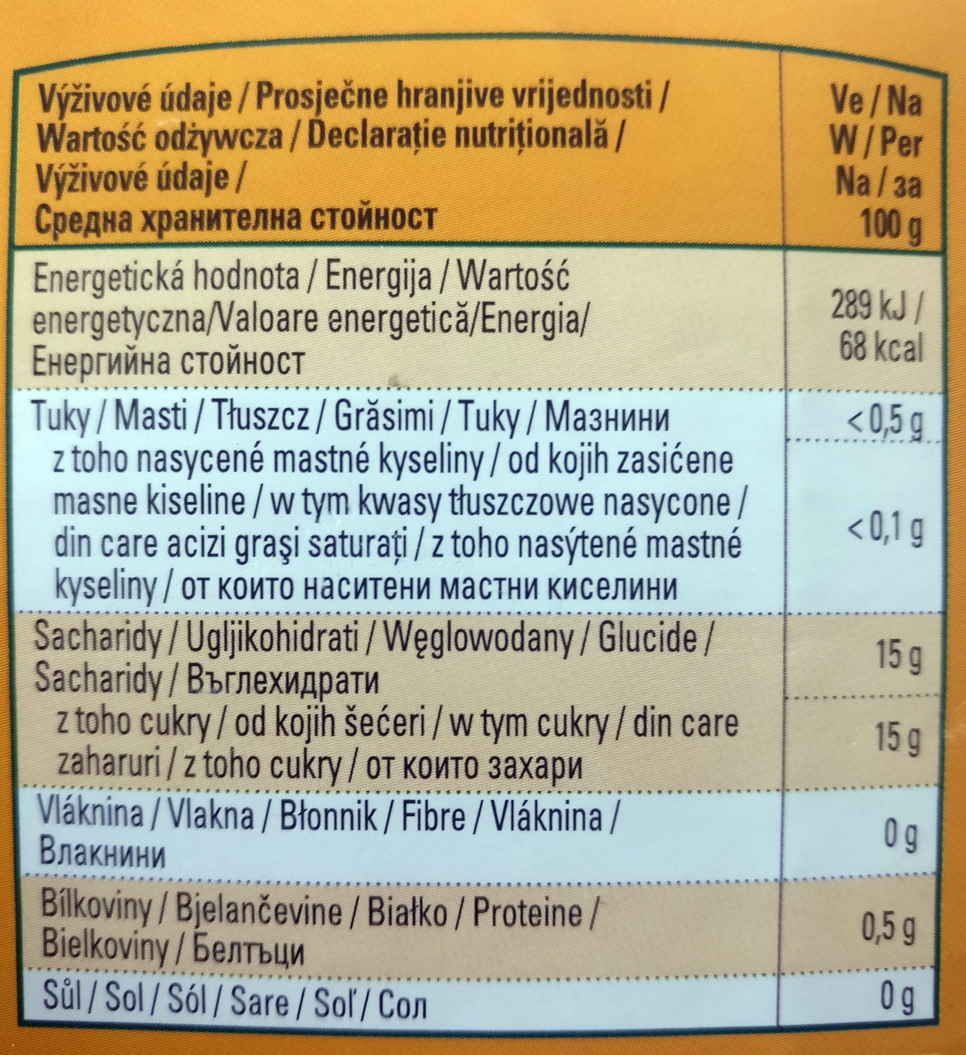 Mandarynki, całe segment bez skórki w lekkim syropie. - Wartości odżywcze - pl